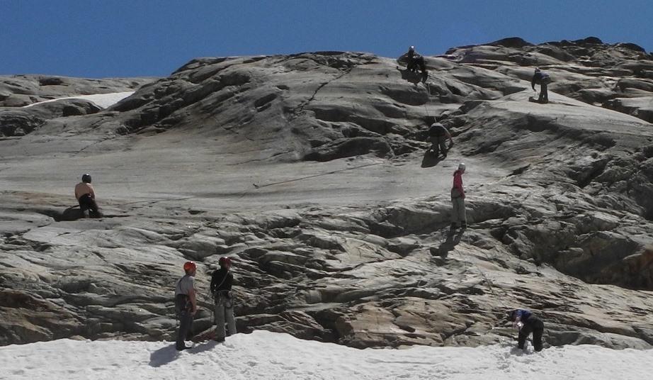 Klettern an der Glanzplatte